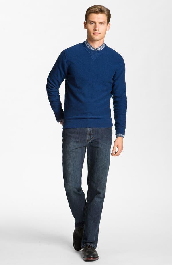 Alternate Image 4  - Hickey Freeman Wool & Cashmere Sweatshirt