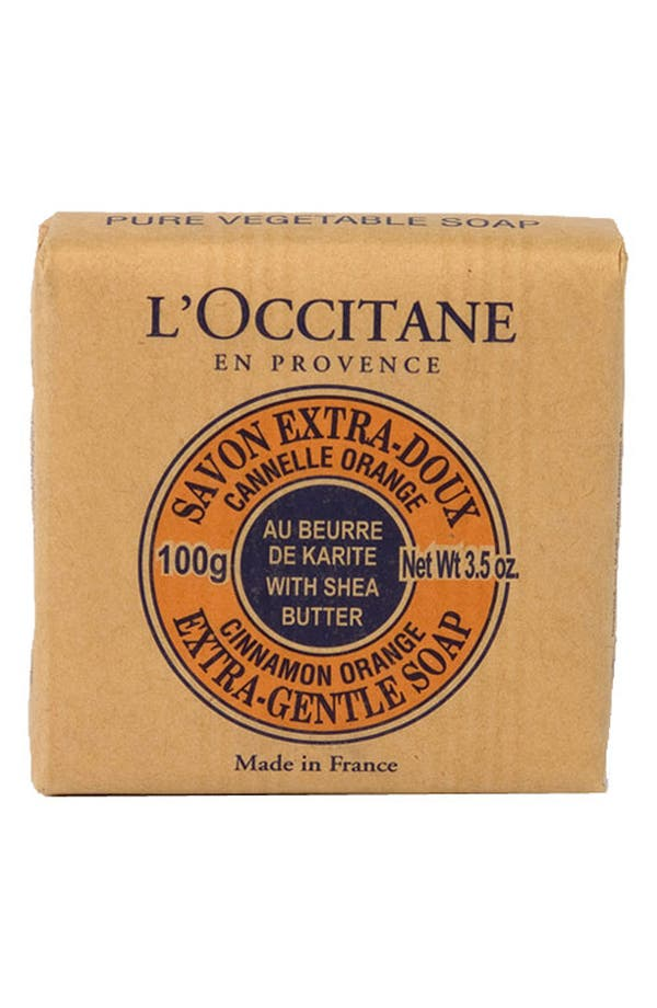 Alternate Image 1 Selected - L'Occitane 'Cinnamon Orange' Shea Butter Extra Gentle Soap