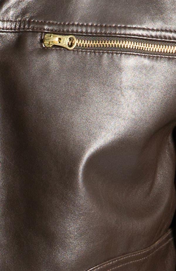 Alternate Image 3  - Cutter & Buck 'Wildridge' Leather Bomber Jacket (Big & Tall)
