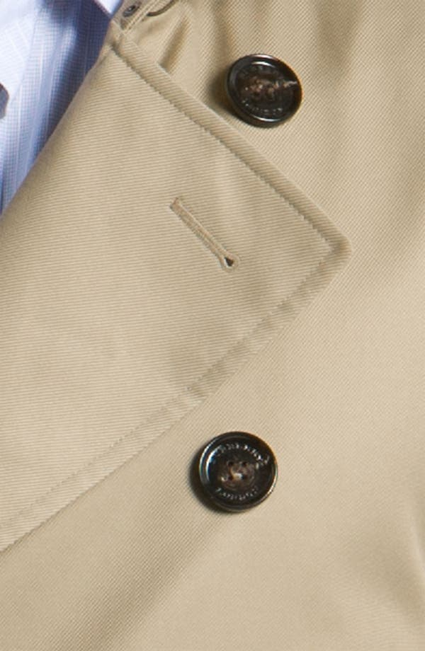 Alternate Image 3  - Burberry London Trim Fit Raincoat