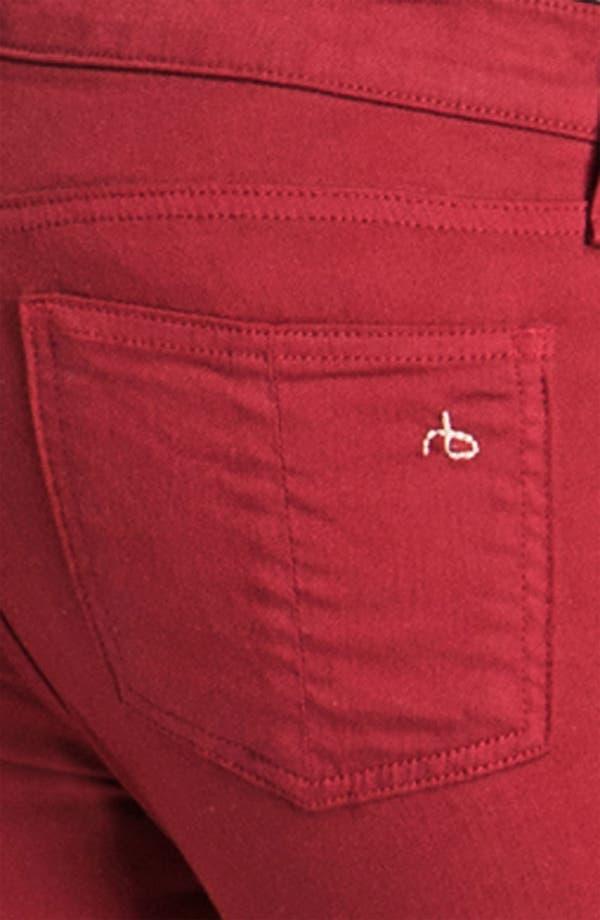 Alternate Image 3  - rag & bone/JEAN Skinny Zip Detail Stretch Jeans