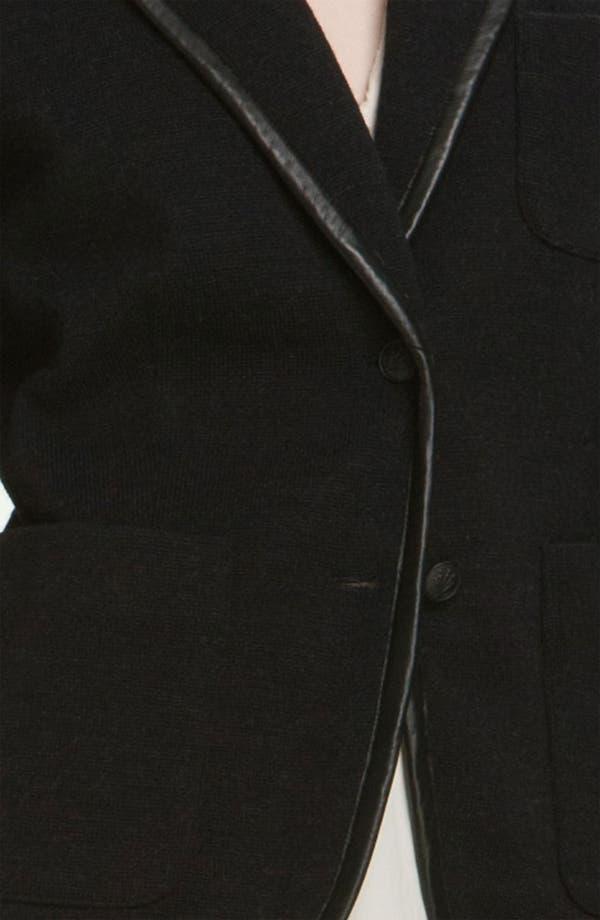 Alternate Image 3  - rag & bone 'Bromley' Leather Trim Knit Blazer