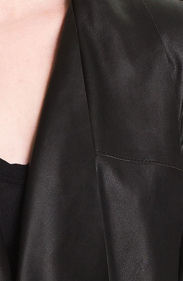 Alternate Image 3  - Bod & Christensen Drape Collar Leather Jacket