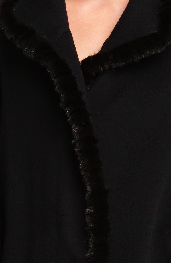 Alternate Image 3  - Fleurette Genuine Mink Fur Trim Walking Coat (Petite)