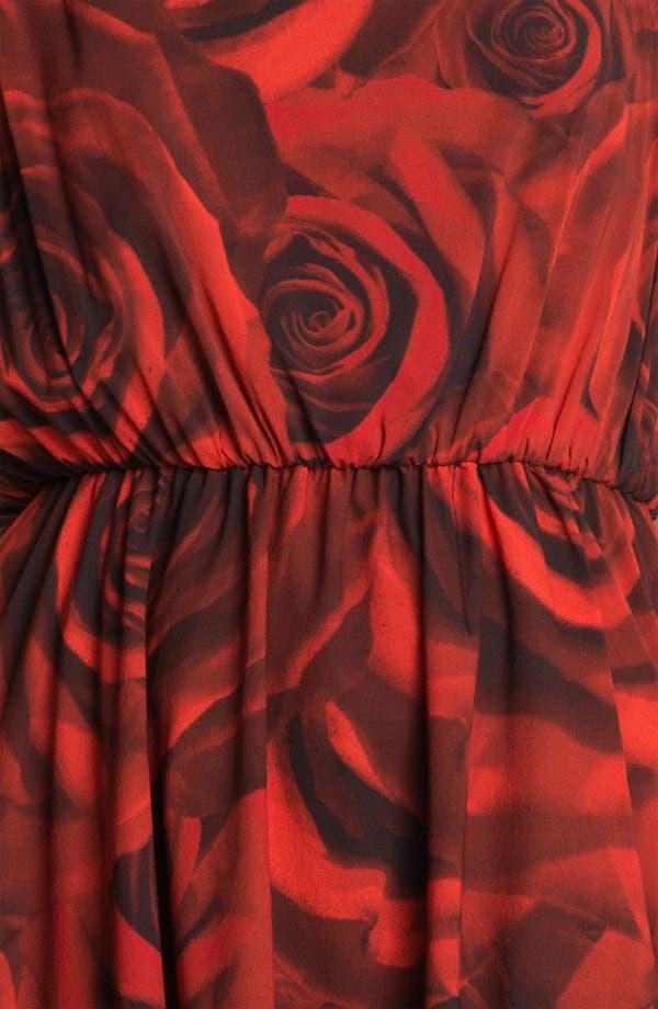 Alternate Image 3  - Alice + Olivia 'Corwin' Rose Print Blouson Dress