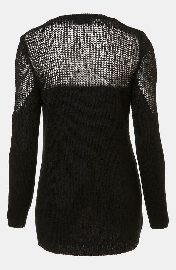 Alternate Image 2  - Topshop Sheer Yoke Sweater