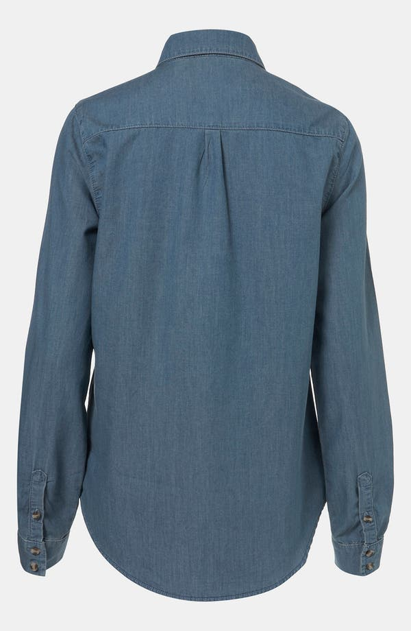 Alternate Image 2  - Topshop 'Colette' Chambray Shirt