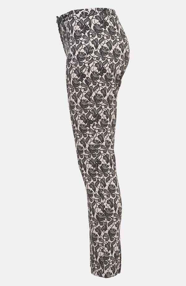 Alternate Image 4  - Topshop Lace Skinny Pants