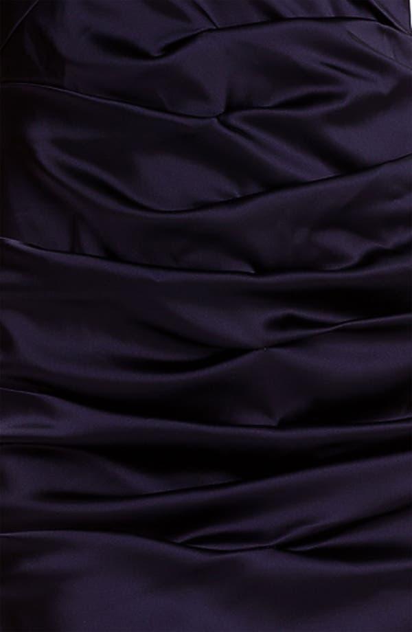 Alternate Image 3  - Calvin Klein Strapless Ruched Satin Sheath Dress