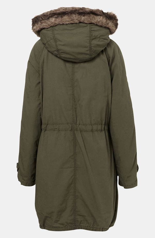 Alternate Image 2  - Topshop 'Benny' Faux Fur Trim Parka