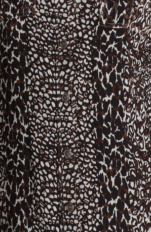 Alternate Image 3  - Lucky Brand 'Joan' Animal Print Silk Blouse