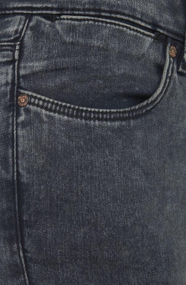 Alternate Image 3  - Topshop Moto 'Leigh' Acid Wash Skinny Jeans (Petite)