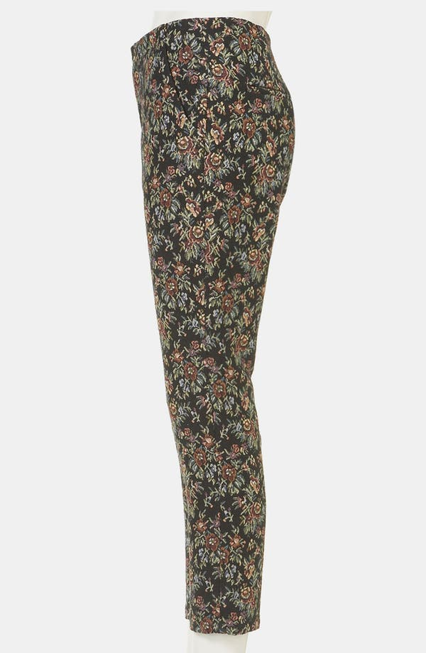 Alternate Image 4  - Topshop Tapestry Print Skinny Pants
