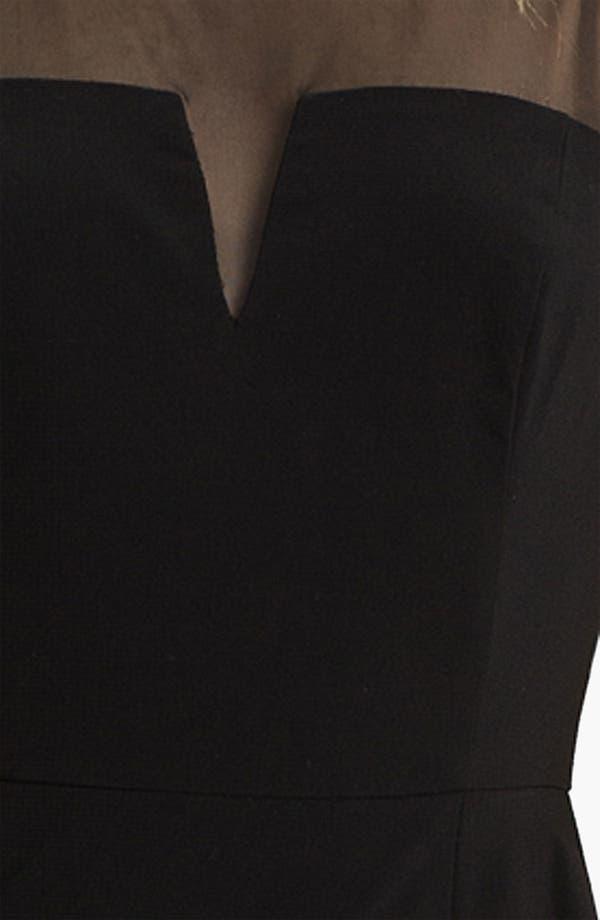 Alternate Image 3  - Aidan by Aidan Mattox Illusion Yoke Peplum Dress