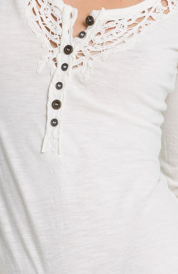Alternate Image 3  - Free People 'Legacy' Crochet Neck Henley Top