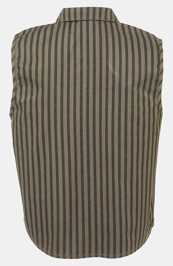 Alternate Image 2  - Topshop Stripe Sleeveless Crop Shirt