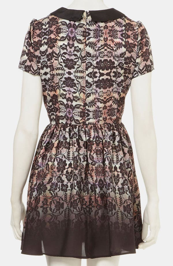 Alternate Image 2  - Topshop 'Florence' Lace Plaid Dress