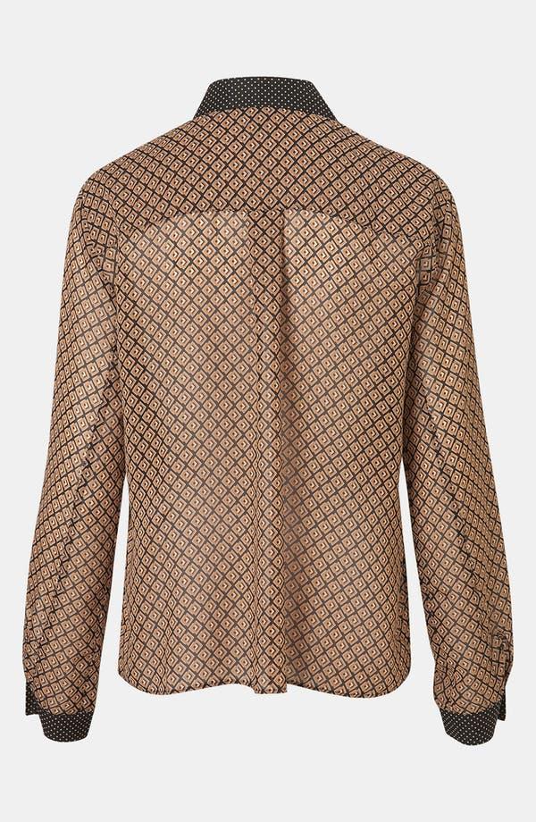 Alternate Image 2  - Topshop Mixed Print Tipped Collar Shirt