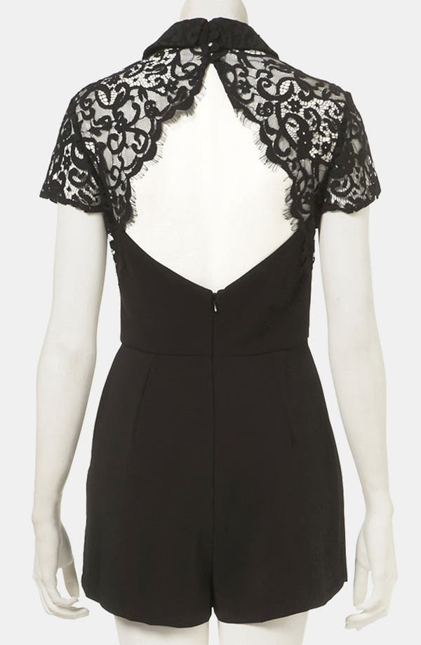 Alternate Image 2  - Topshop Lace Yoke Romper