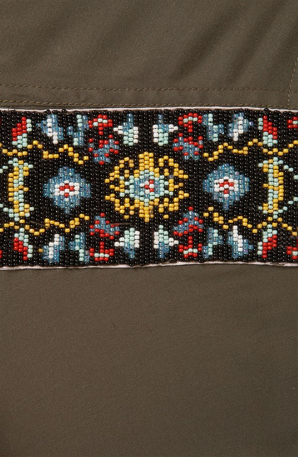 Alternate Image 3  - Topshop Beaded Epaulette Army Shirt