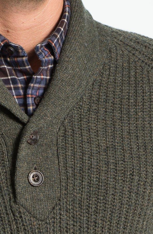 Alternate Image 3  - Wallin & Bros. Shawl Collar Merino Wool Blend Sweater