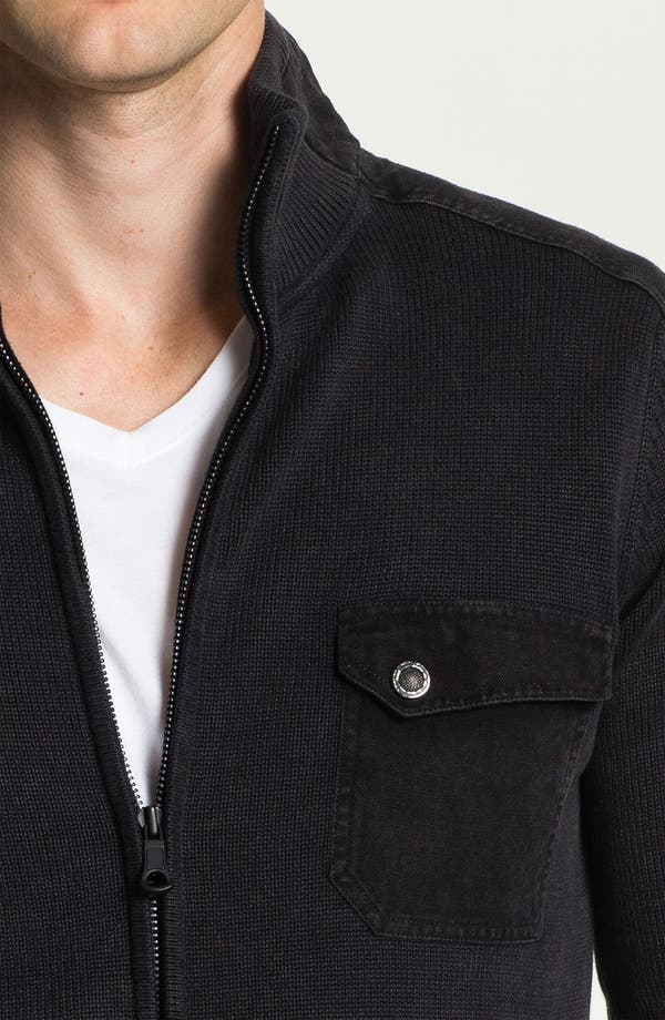 Alternate Image 3  - R44 Rogan Standard Issue 'Triumph' Organic Cotton Zip Cardigan