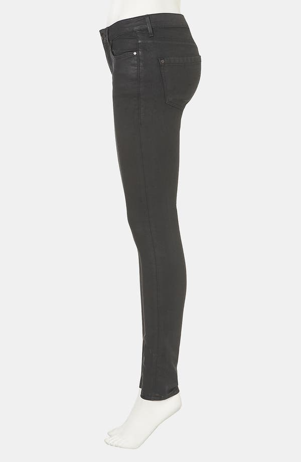 Alternate Image 4  - Topshop Moto 'Leigh' Skinny Jeans (Black)