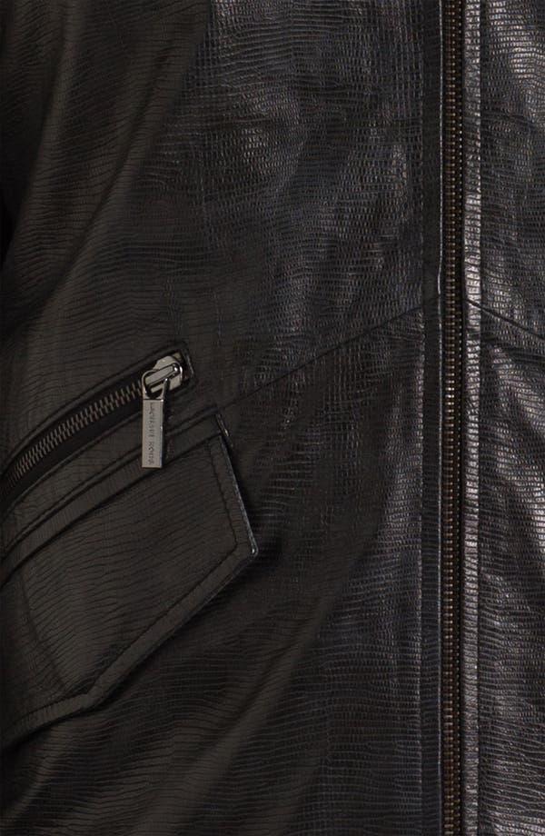 Alternate Image 3  - Michael Kors Embossed Leather Jacket (Online Exclusive)