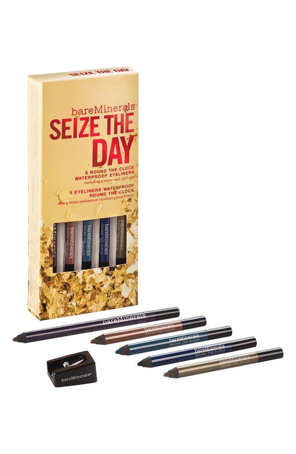 Alternate Image 1 Selected - bareMinerals® 'Round the Clock™ - Seize the Day' Waterproof Eyeliner Set ($45 Value)