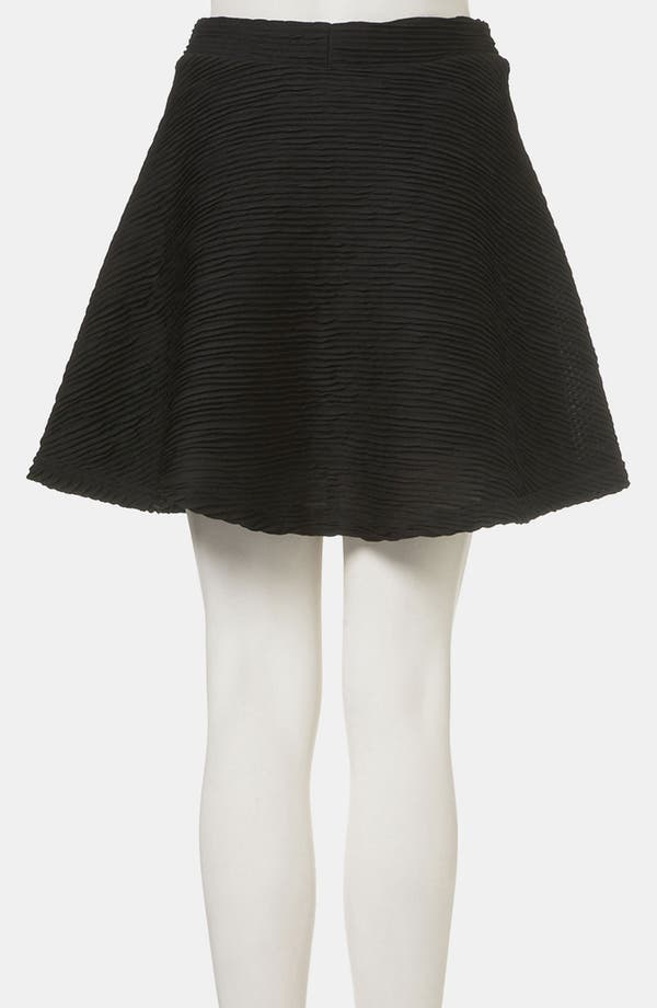 Alternate Image 2  - Topshop Textured Skater Skirt