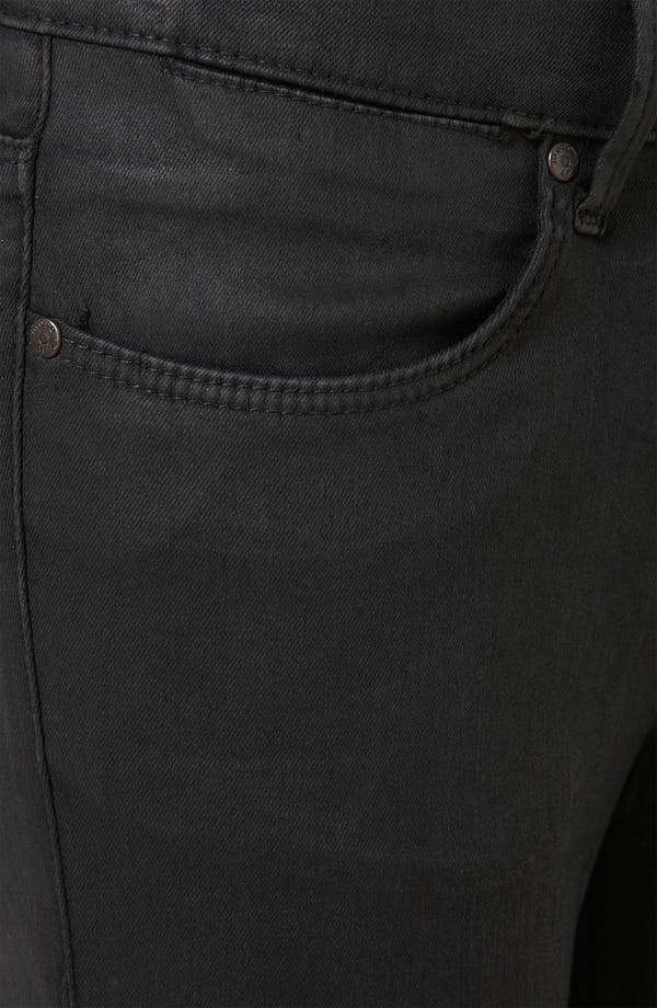Alternate Image 3  - Topshop Moto 'Leigh' Coated Skinny Jeans (Black) (Petite)