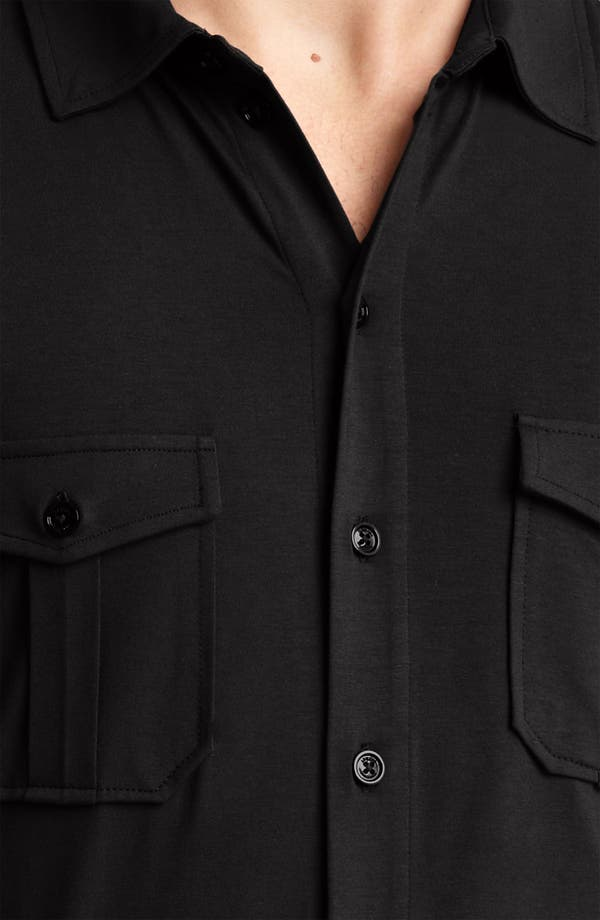 Alternate Image 3  - Armani Collezioni Jersey Shirt