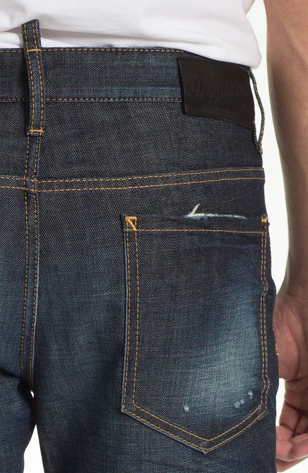 Alternate Image 4  - Dsquared2 'Dean' Straight Leg Jeans (Blue)