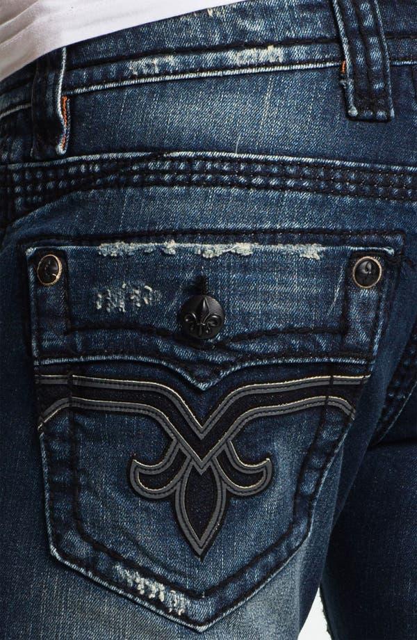 Alternate Image 4  - Rock Revival 'Spencer' Straight Leg Jeans (Medium Blue)