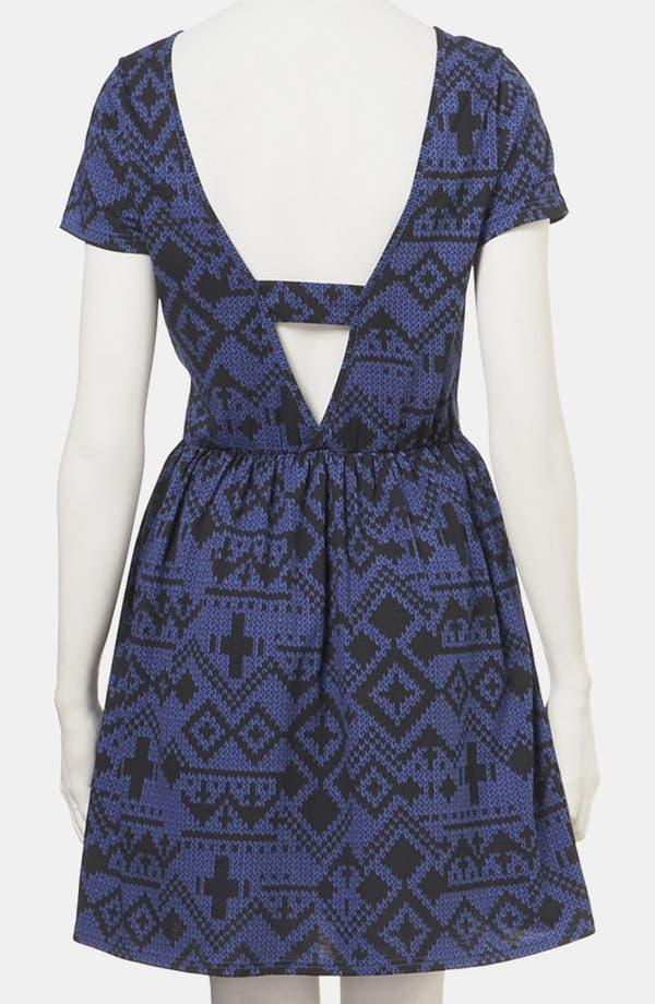 Alternate Image 2  - Topshop Fair Isle Jersey Dress