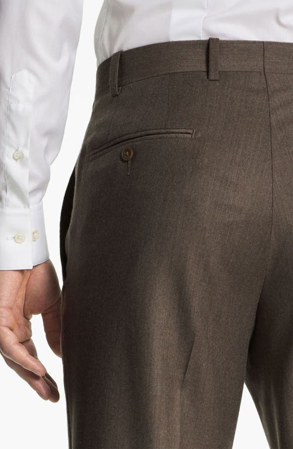 Alternate Image 3  - JB Britches Flat Front Wool & Cashmere Trousers