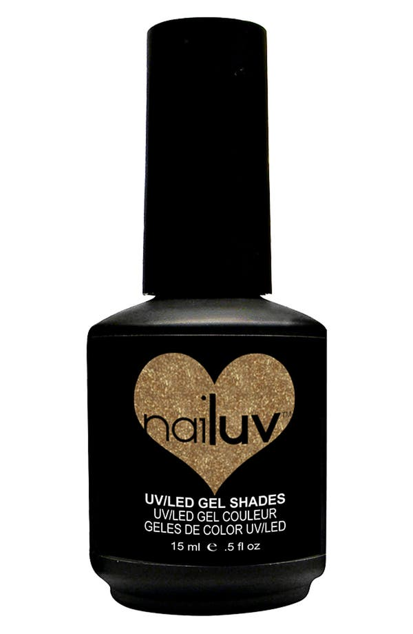 Alternate Image 1 Selected - NaiLuv™ 'My Gold' Gel Nail Polish