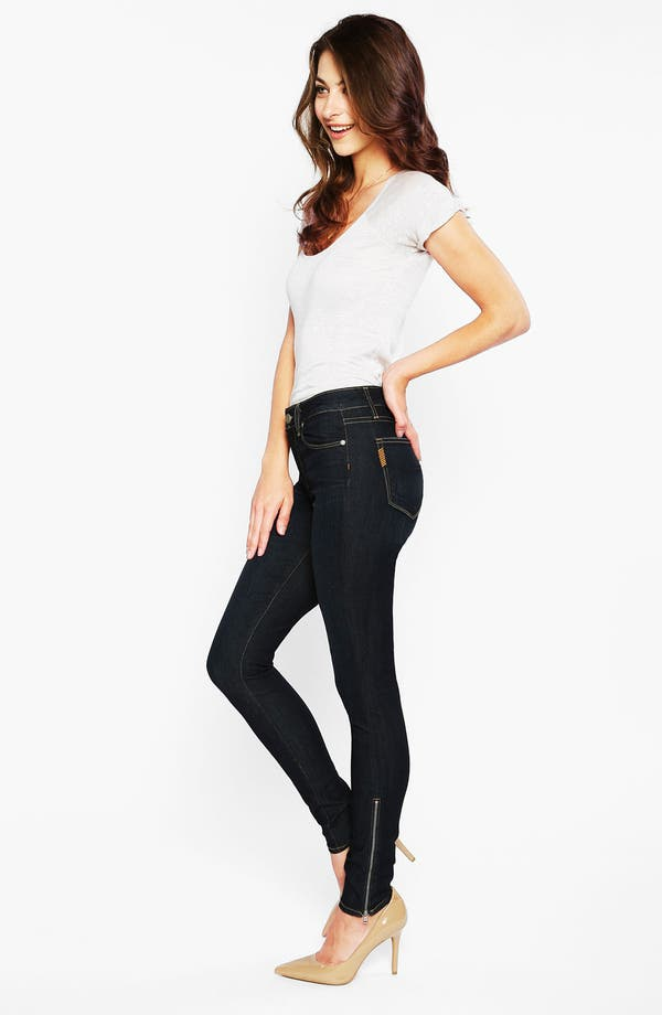 Alternate Image 4  - Paige Denim 'Hoxton' Ankle Zip Skinny Jeans (Stream)