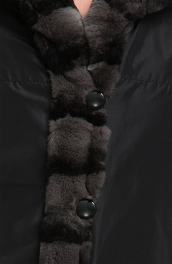 Alternate Image 3  - Blue Duck Genuine Rabbit Fur Reversible Storm Coat