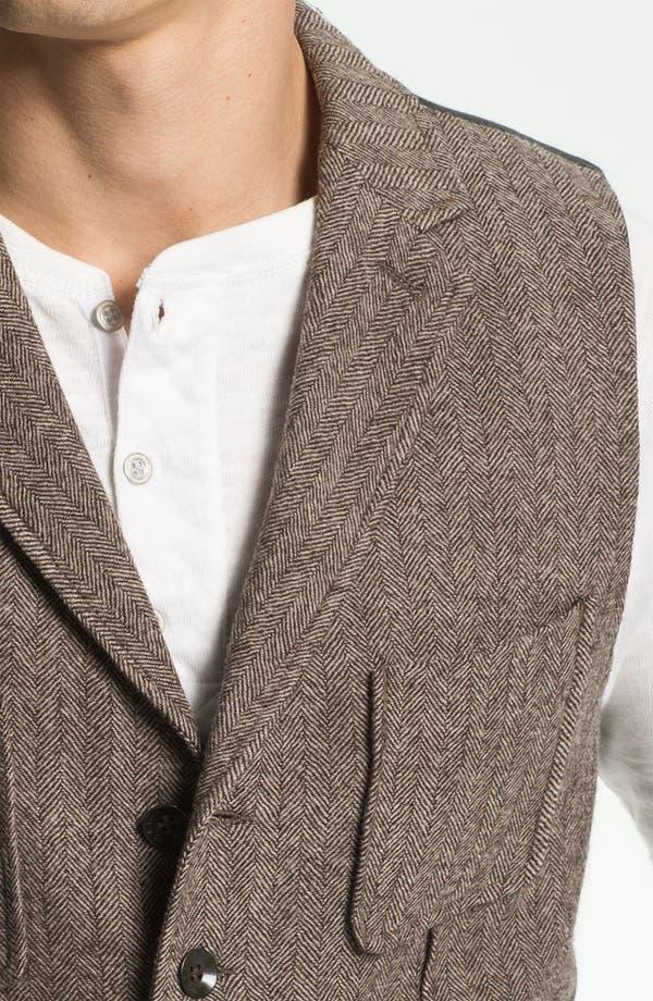 Alternate Image 3  - rag & bone 'Albers' Wool Herringbone Waistcoat