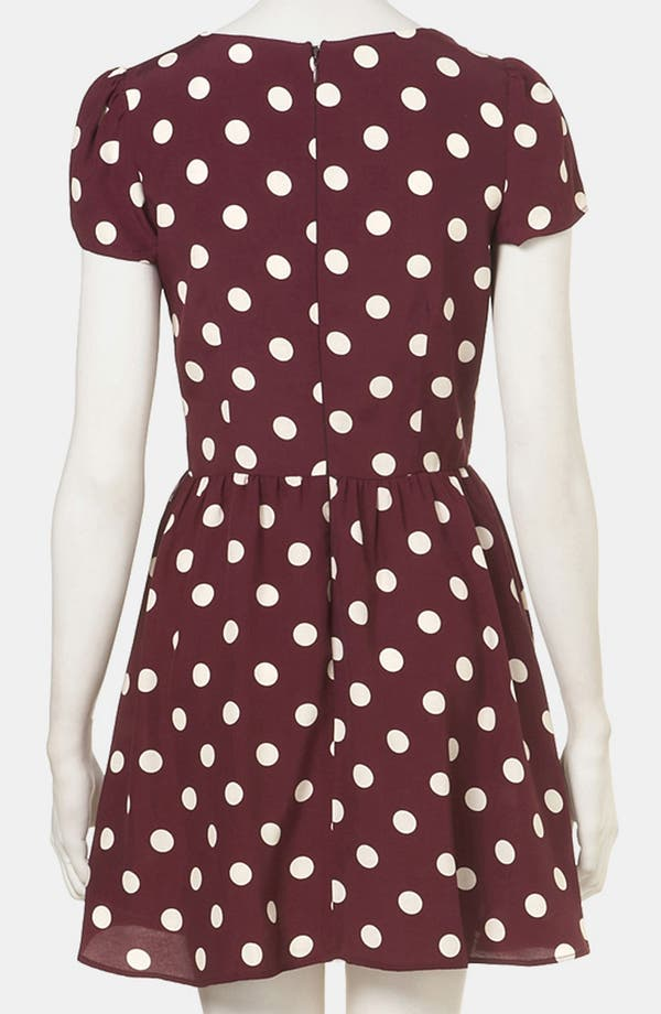 Alternate Image 2  - Topshop Polka Dot Skater Dress