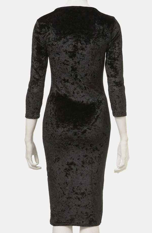 Alternate Image 2  - Topshop Crushed Velvet Midi Dress