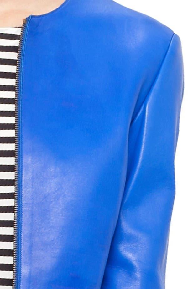 Alternate Image 5  - Akris punto Nappa Leather Jacket
