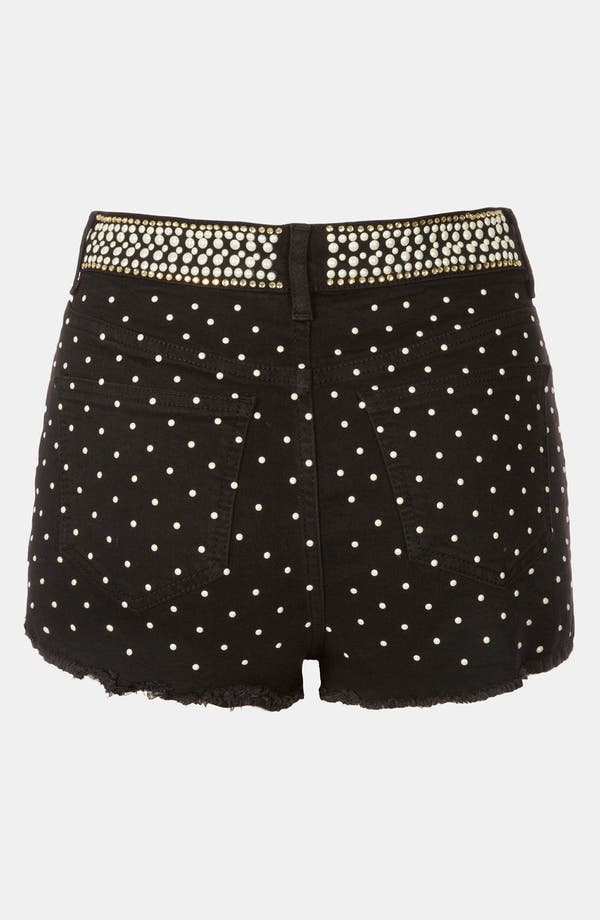 Alternate Image 2  - Topshop Moto Embellished Denim Hot Pants