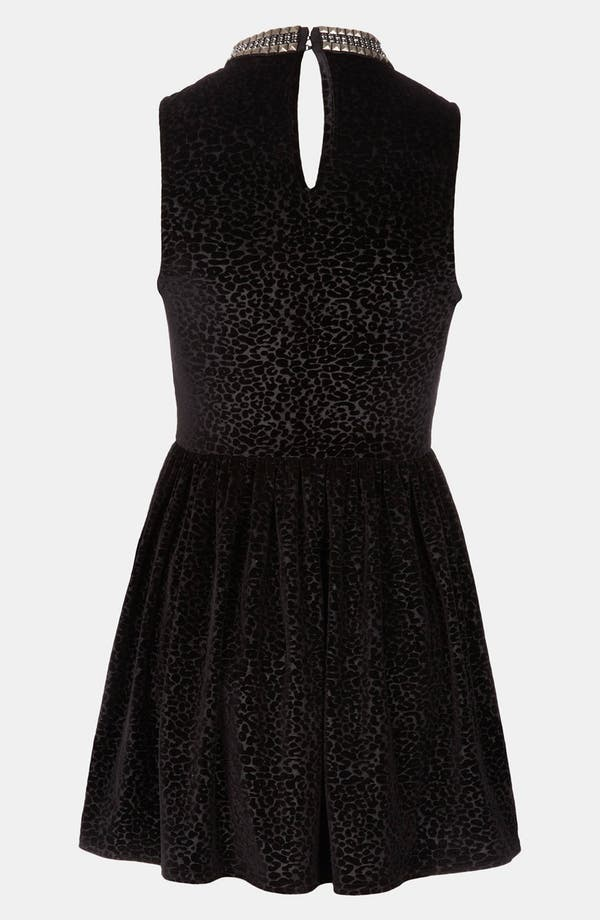 Alternate Image 2  - Topshop Stud Necklace Devore Velvet Dress
