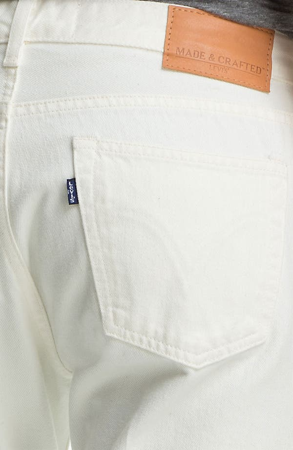 Alternate Image 4  - Levi's® Made & Crafted™ Slim Fit Jeans (White)