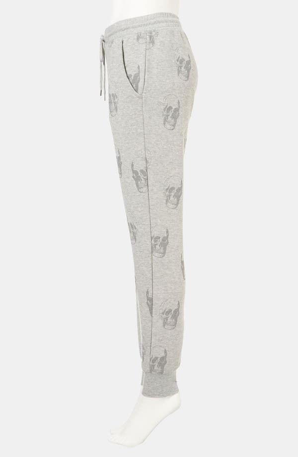 Alternate Image 4  - Topshop Skull Print Tapered Sweatpants