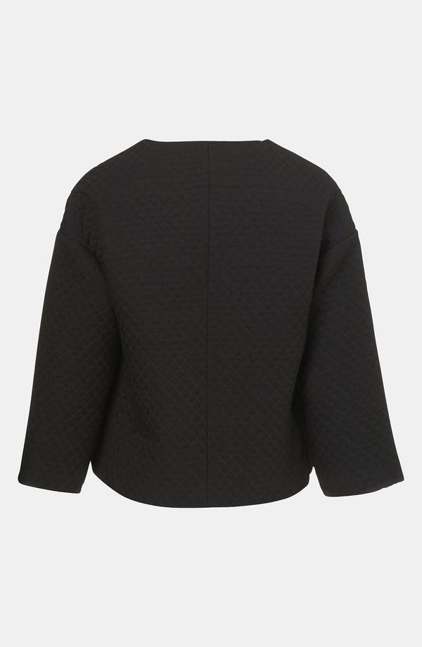 Alternate Image 2  - Topshop Quilted Crop Drop Shoulder Jacket