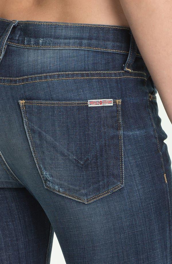 Alternate Image 3  - Hudson Jeans 'Tilda' Cuffed Straight Leg Stretch Jeans (Blue)