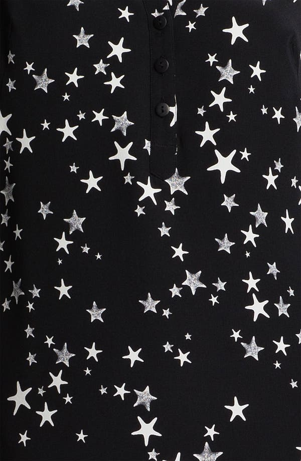 Alternate Image 3  - Tibi Starfish Print Silk Crêpe de Chine Tunic Dress